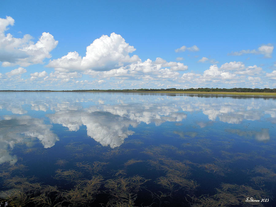 Clouds In The Lake Photograph