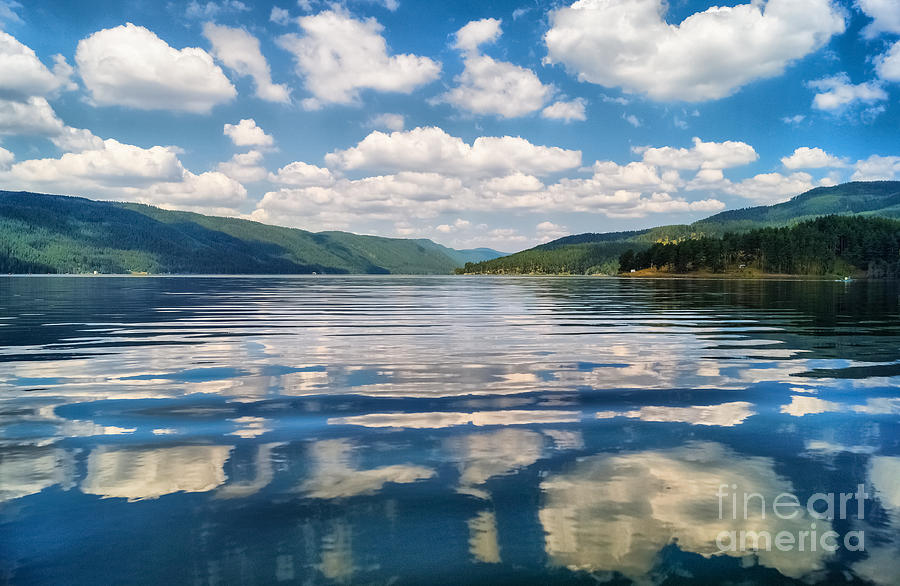 Landscape Photograph - Clouds In The Water by Stela Taneva