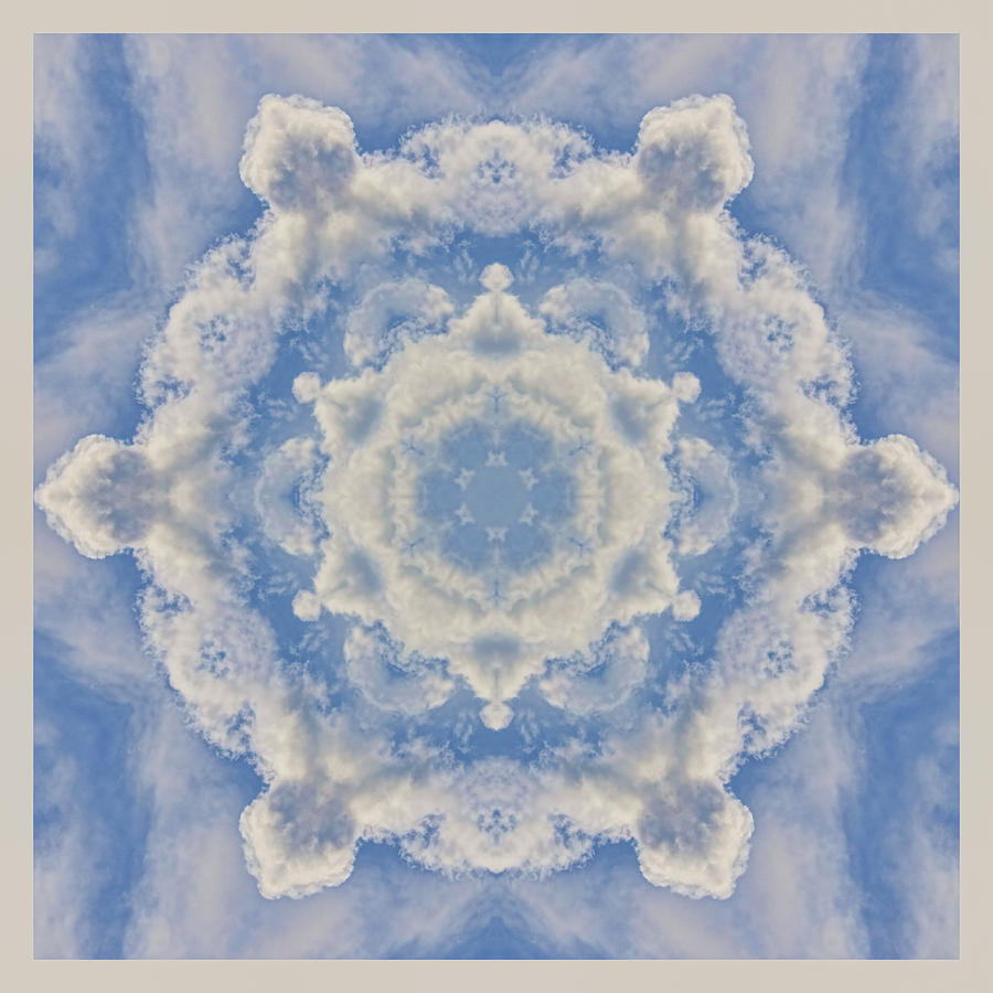 Clouds Photograph - Clouds Mandala by Beth Sawickie
