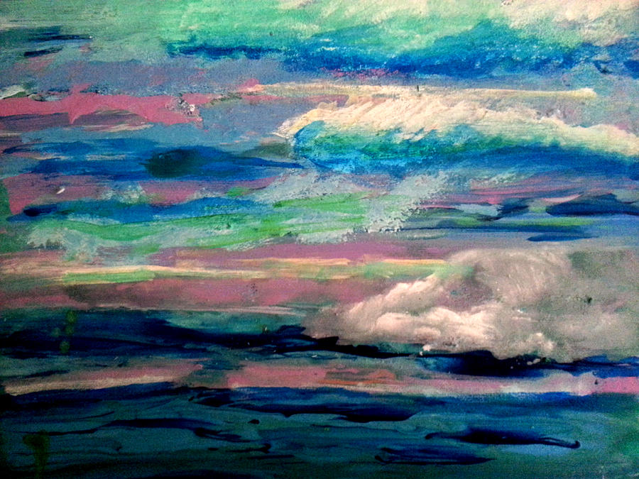 Abstract Painting - Clouds by Nikki Dalton