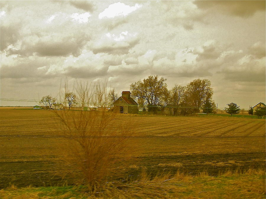 Clouds Photograph - Clouds Over An Illinois Farm by Susan Wyman