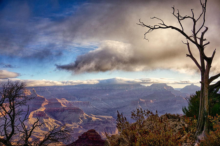 Grand Canyon Photograph - Clouds Over Canyon by Lisa  Spencer