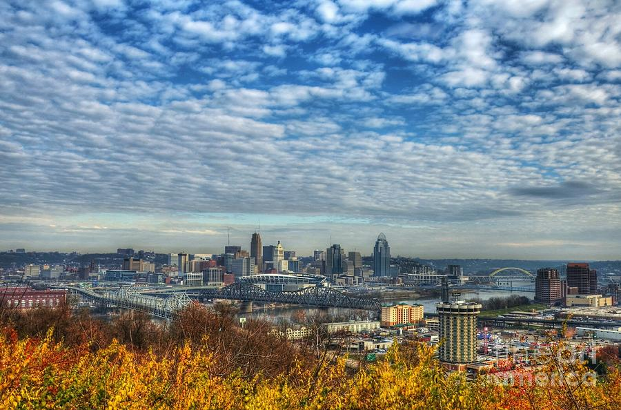 Cincinnati Photograph - Clouds Over Cincinnati by Mel Steinhauer