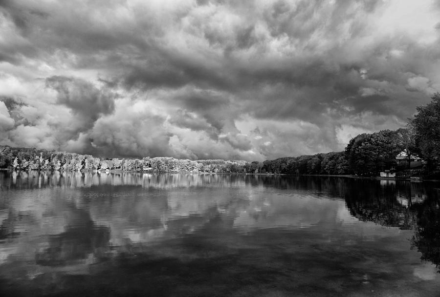 Beauty Photograph - Clouds Over Crystal Lake by Kevin Kludy