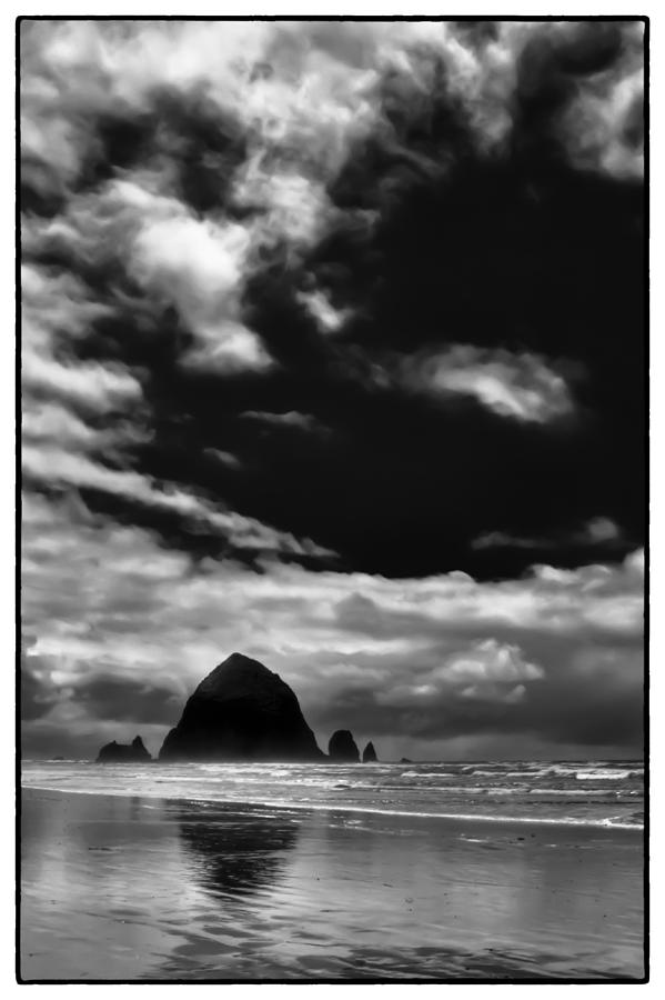 Cannon Beach Photograph - Clouds Over Haystack Rock On Cannon Beach by David Patterson