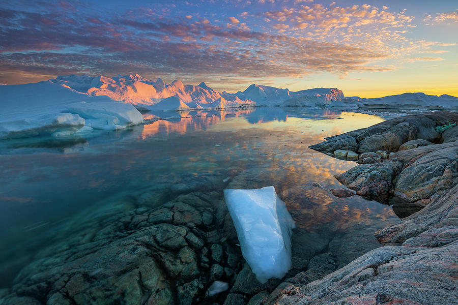 Nobody Photograph - Clouds Over Ilulissat Icefjord by Johnathan Ampersand Esper