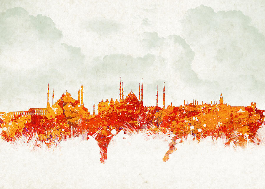 Architecture Digital Art - Clouds Over Istanbul Turkey by Aged Pixel