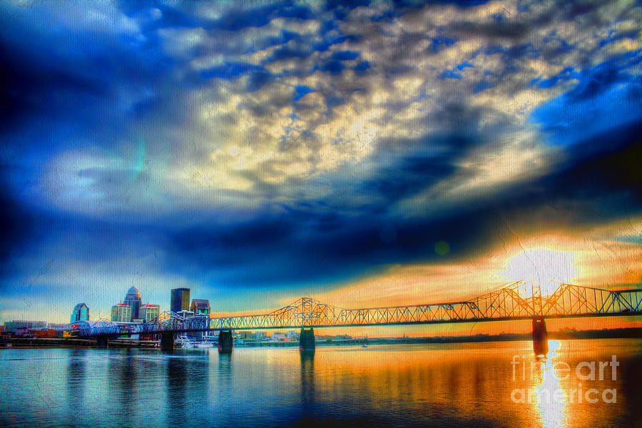 Painterly Photograph - Clouds Over Louisville by Darren Fisher