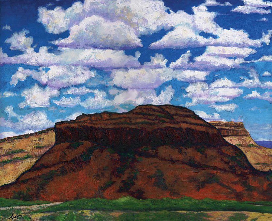 Lanscape Painting - Clouds Over Red Mesa by Joe  Triano