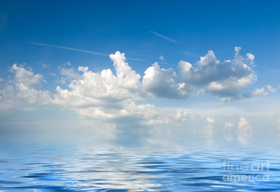 Clouds Over Sea Photograph - Clouds Over Sea by Boon Mee