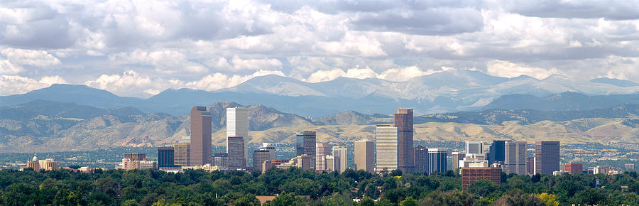 Color Image Photograph - Clouds Over Skyline And Mountains by Panoramic Images