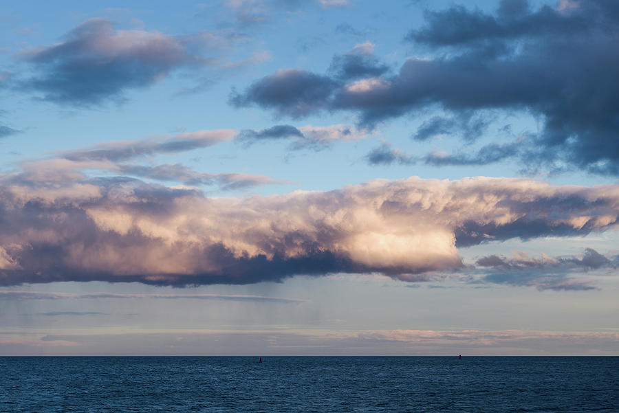 Horizontal Photograph - Clouds Over The Atlantic Ocean At Dusk by Panoramic Images