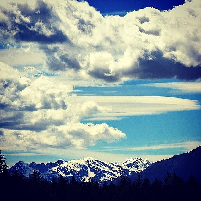 Nature Photograph - Clouds Over The Mountains by Luisa Azzolini