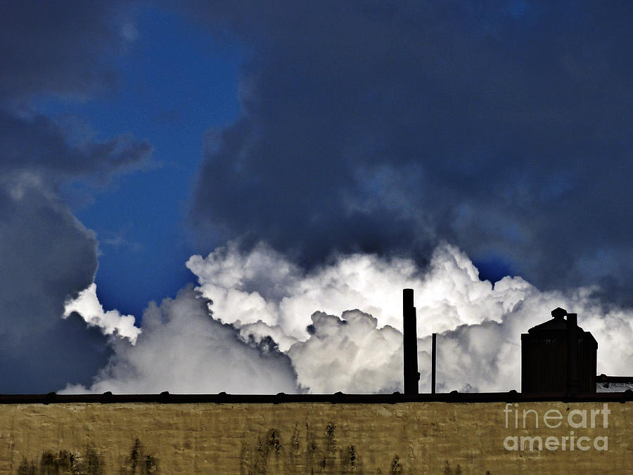 Nyc Photograph - Clouds Over The Watertower by Mark Thomas