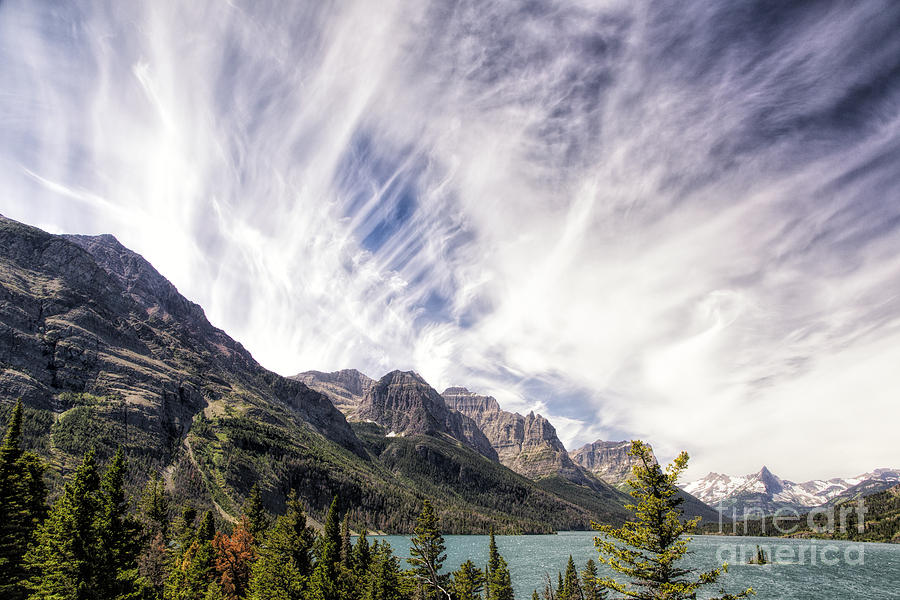 Glacier Photograph - Clouds Over Wild Goose Island by Timothy Hacker