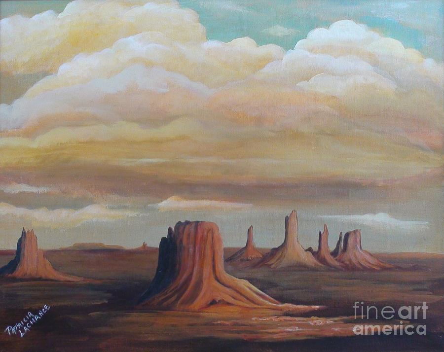 Red Rocks Painting - Clouds by Patricia Lachance
