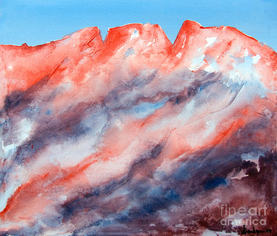 Sky Painting - Clouds Roll In by Kandyce Waltensperger