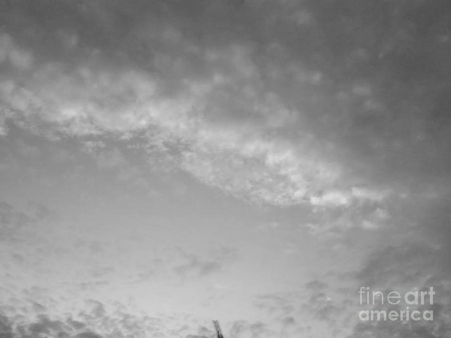 Acropolis Photograph - Clouds -shapes In Black-2 by Katerina Kostaki