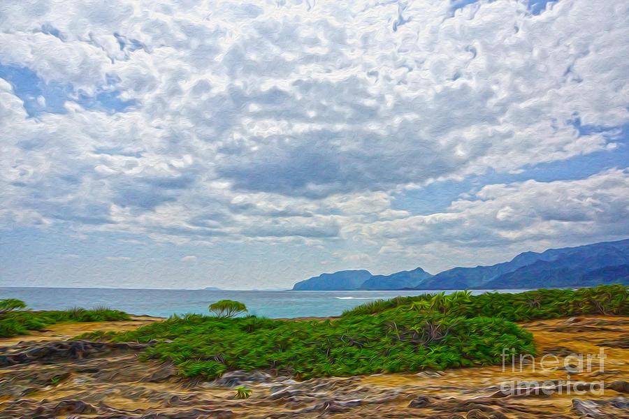 Cloud Digital Art - Cloudy Day In Oahu by Nur Roy