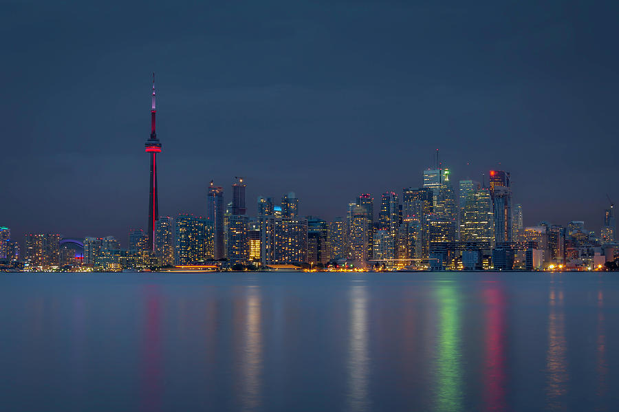 Cloudy Evening Over Toronto Photograph by Jean Surprenant