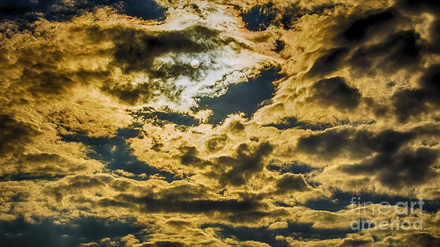 Clouds Photograph - Cloudy Sky Over Calvary Cemetery by Mark Thomas
