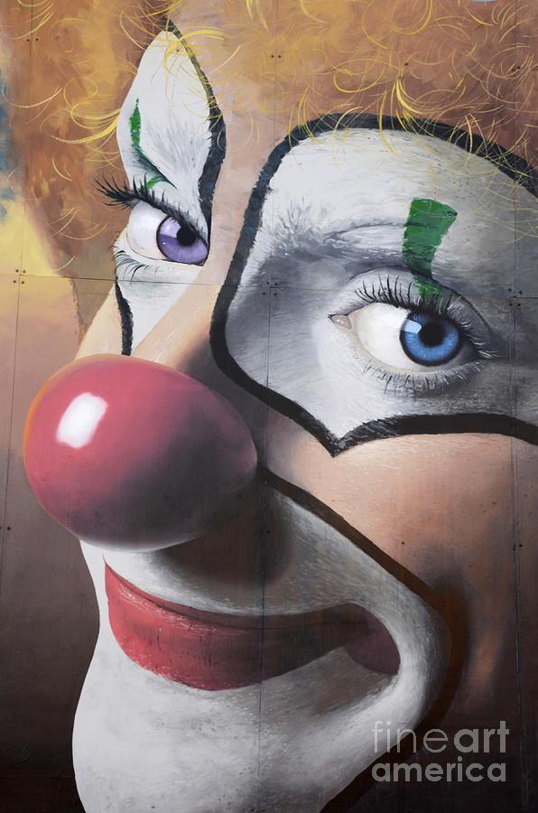 California Photograph - Clown Mural by Bob Christopher