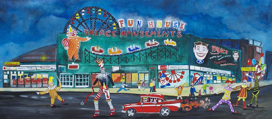 Palace Amusements Painting - Clown Parade At The Palace by Patricia Arroyo