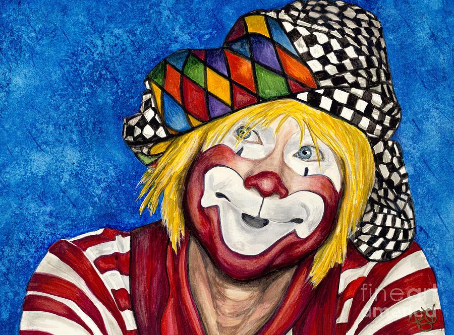 Clown Painting - Watercolor Clown #16 Ron Maslanka by Patty Vicknair