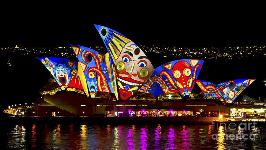 Sydney Photograph - Clown Sails by Bryan Freeman