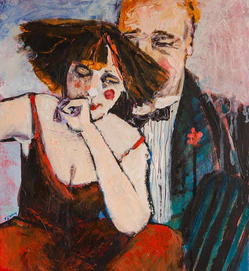 Clowns Painting - Clowning Around by Jennifer Croom