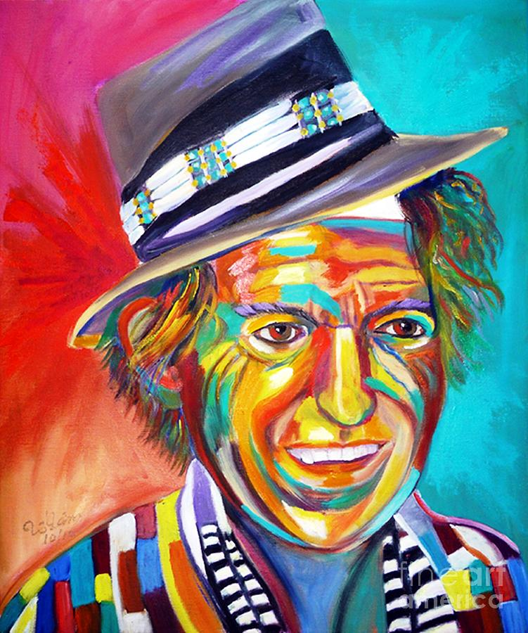 Keith Richards Painting - Clowning by To-Tam Gerwe