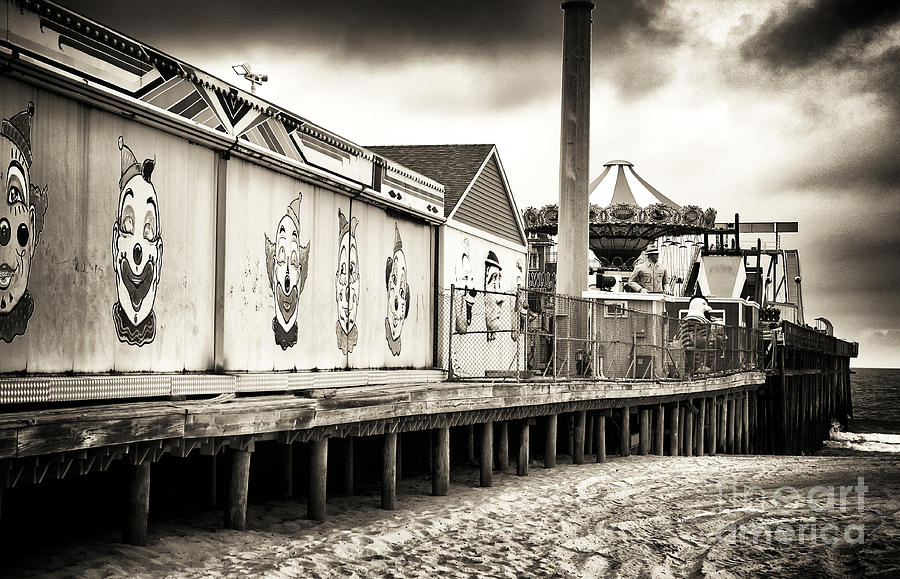 Sand Photograph - Clowns On The Pier by John Rizzuto