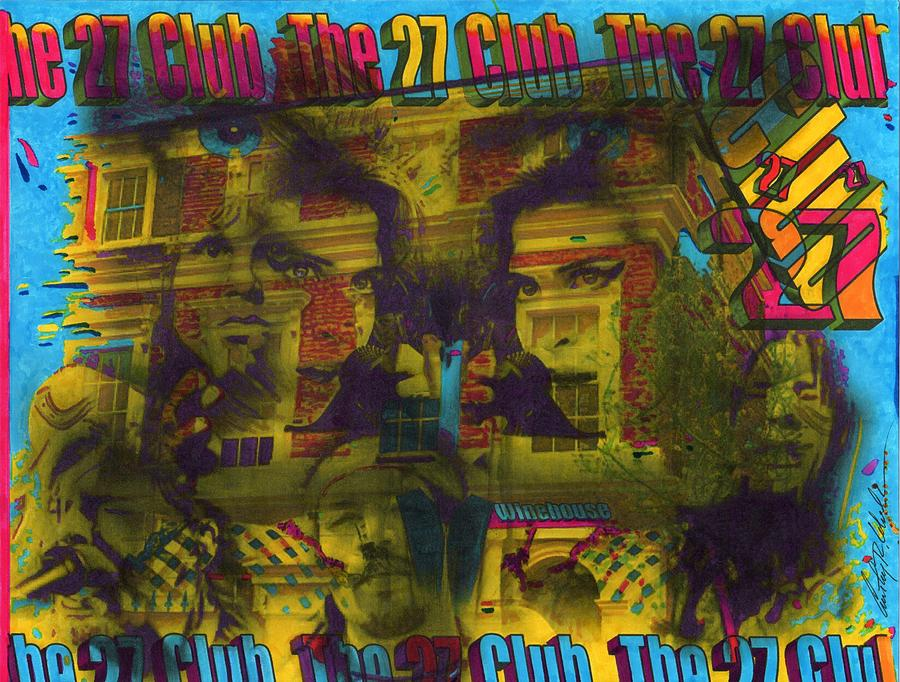 Amy Winehouse Painting - Club 27 by Anthony Whelihan