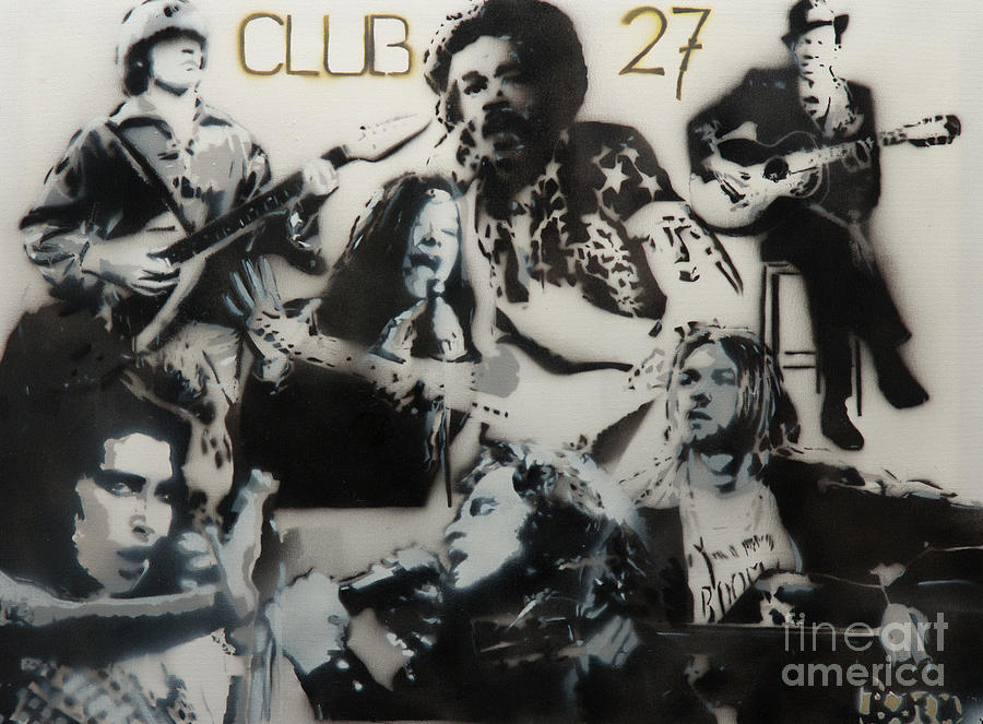 Robert Johnson Painting - Club 27 by Barry Boom