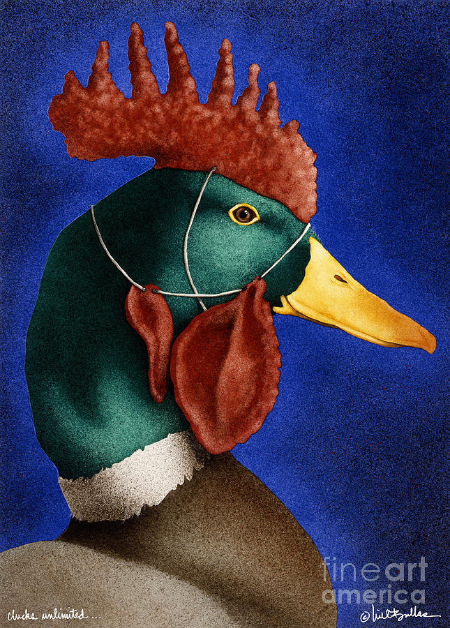 Will Bullas Painting - Clucks Unlimited... by Will Bullas