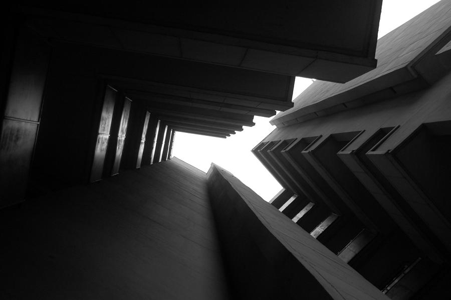 Architecture Photograph - Cluster Block - Denys Lasdun by Peter Cassidy