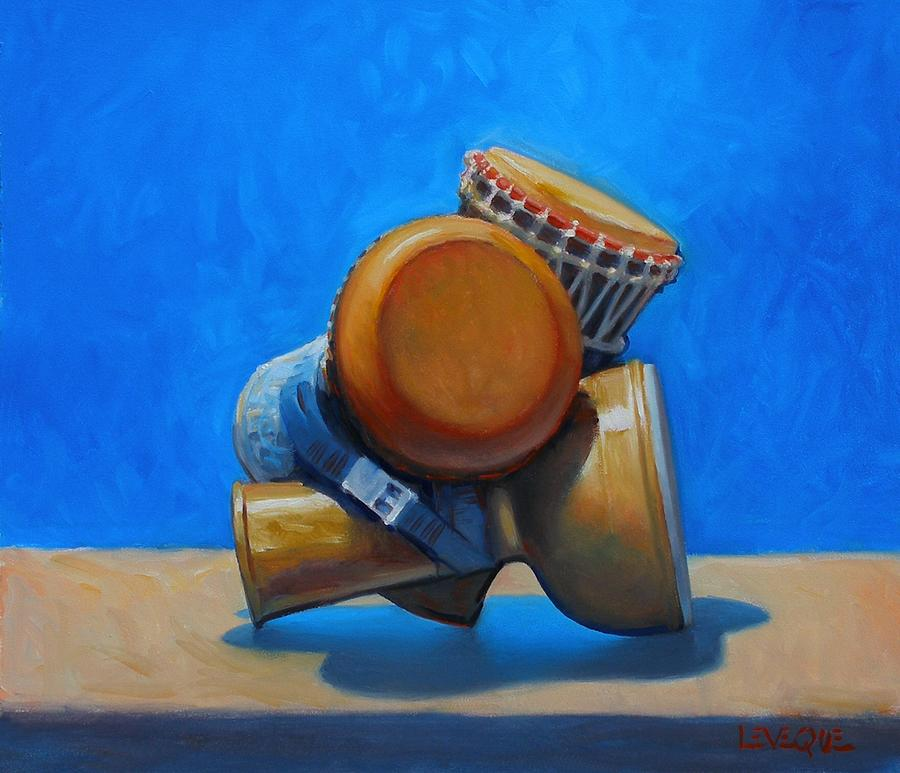 Drums Painting - Cluster Drum by Kevin Lawrence Leveque