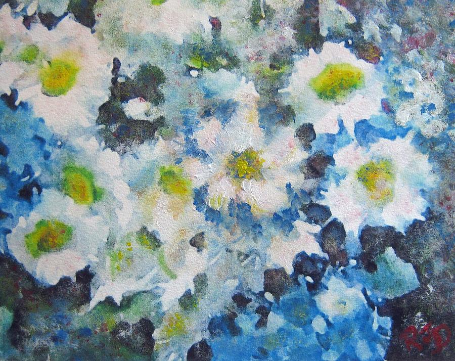Cluster Of Daisies Painting
