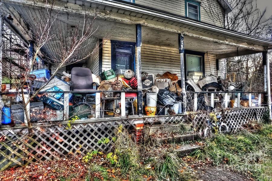 Clutter House Porch  Photograph by Dan Friend