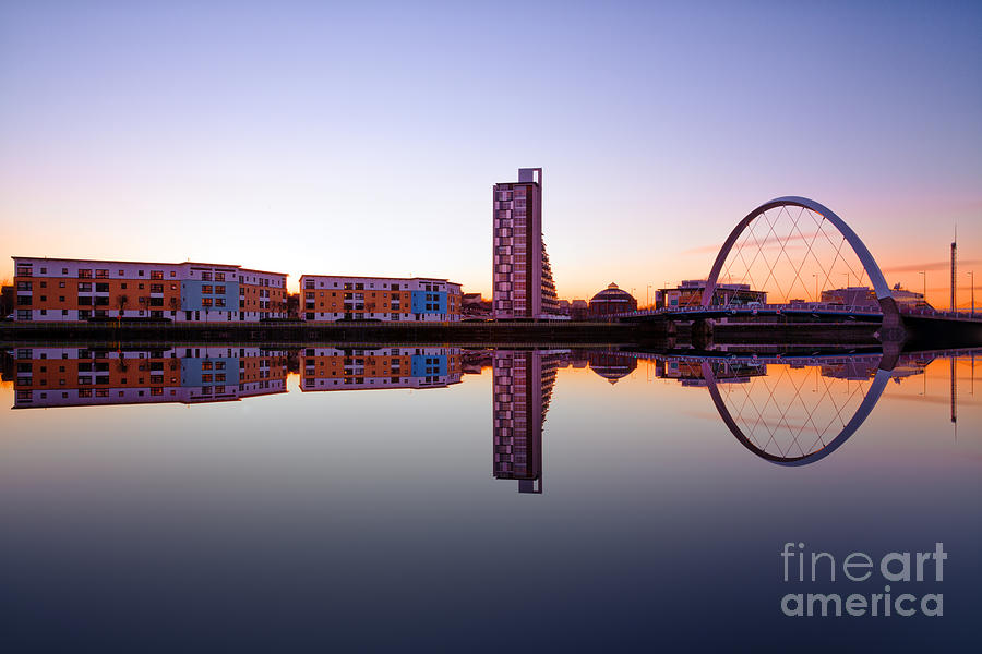 Glasgow At Night Photograph - Clyde Arc  by John Farnan