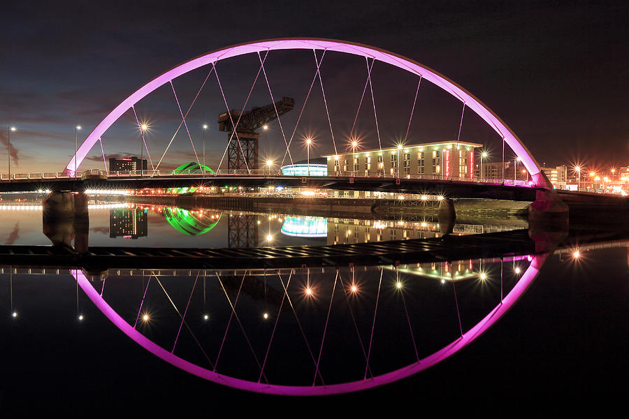 Clyde Arc Photograph - Clyde Arc Night by Grant Glendinning
