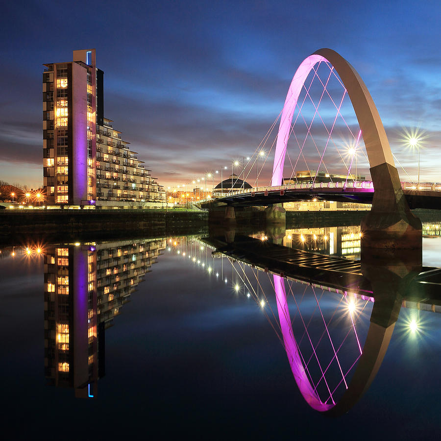 Clyde Arc Photograph - Clyde Arc Twilight by Grant Glendinning