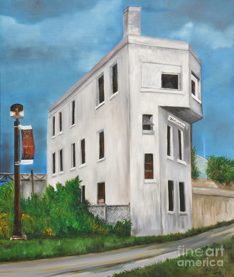 Cn Painting - Cn Wellington Control Tower by Reb Frost