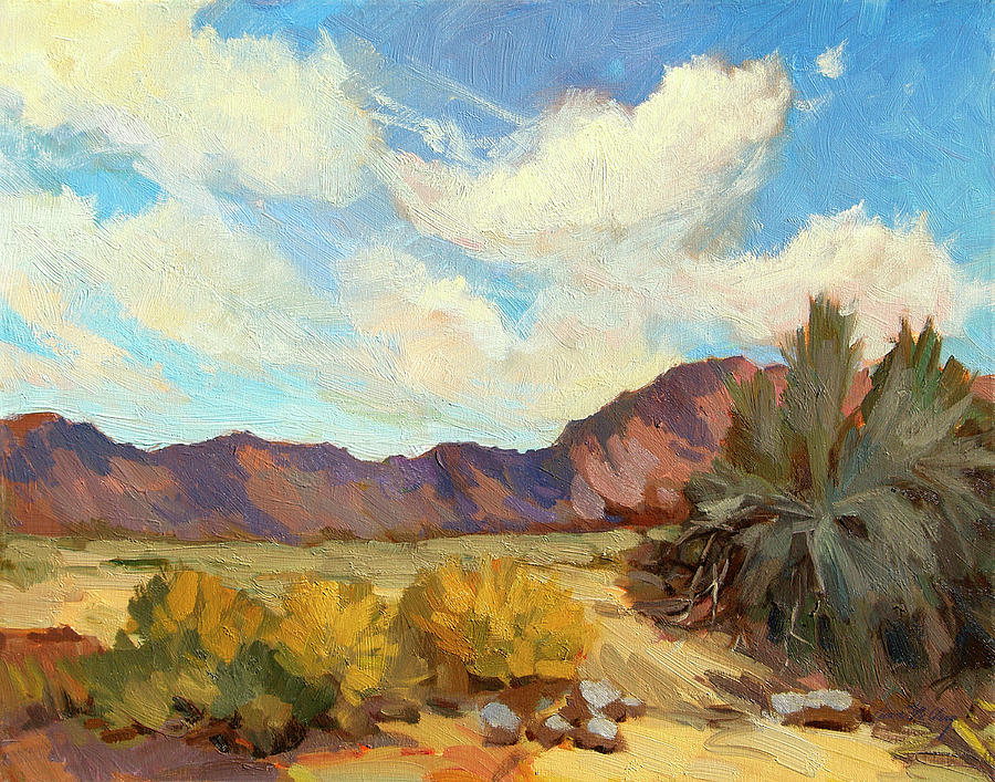 Thousand Palms Painting - Coachella Valley Preserve by Diane McClary