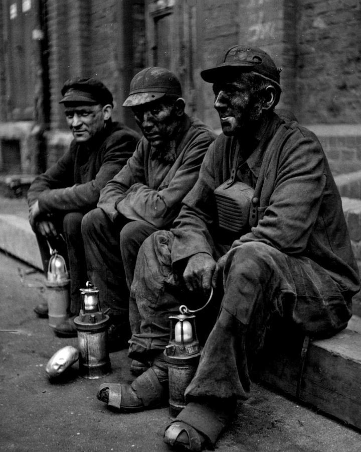 Retro Photograph - Coal Miners Dirty Job Vintage  by Retro Images Archive