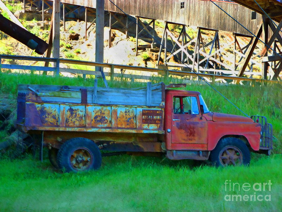 Coal Digital Art - Coal Truck by John Kreiter