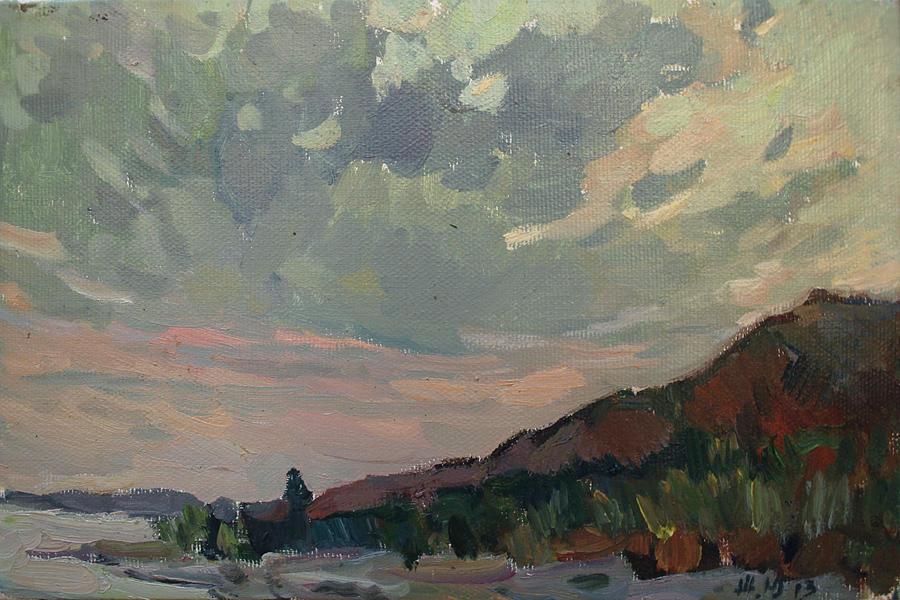 Sea Painting - Coast At Sunset by Juliya Zhukova