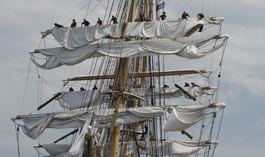 The Photograph - Coast Guard Cutter Eagle Opsail 2012 by Marianne Campolongo