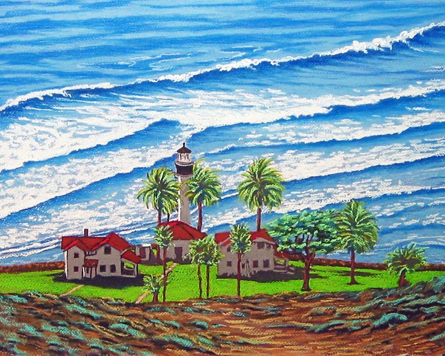 Coast Guard Light Painting By David Linton