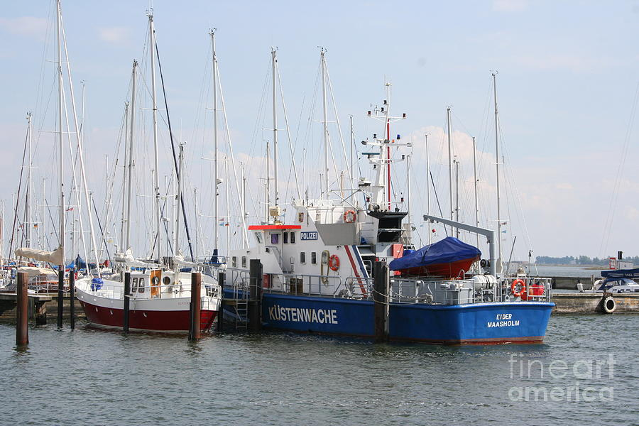 Harbor Photograph - Coast Guard Maasholm Harbor by Christiane Schulze Art And Photography